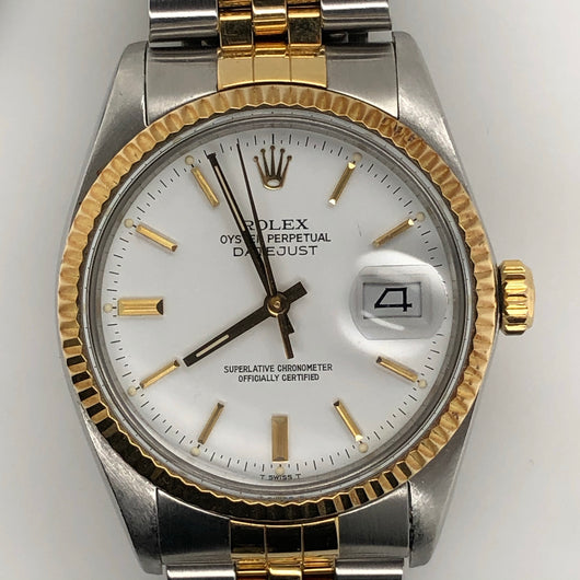 Rolex Vintage Datejust 36mm White Dial Jubilee Band