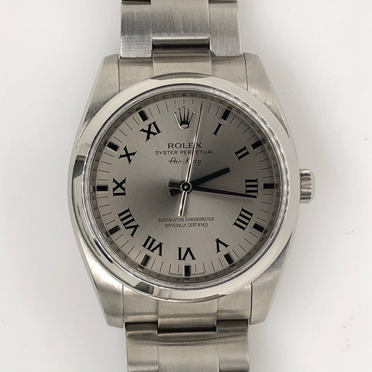 Rolex Air-King 36mm Silver Roman Dial