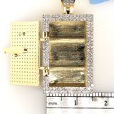 10kt Yellow Gold Diamond Vault Opening Safe 1 Inch  1ct