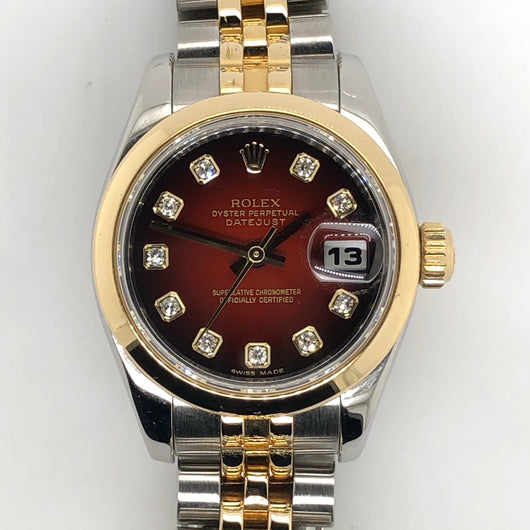 Rolex Datejust 26mm Lady Vignettes Dial 18kt Gold & Steel Jubilee Band