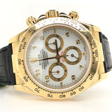 Rolex Gold Daytona with Leather Band & Gold Clasp