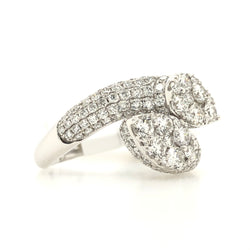 14kt White Diamond Gorgeous Snake Head Ring