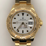 Rolex Yachtmaster 40mm Porcelain Dial Yellow Gold