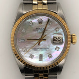 Rolex Vintage Custom MOP Diamond Dial Jubilee Band
