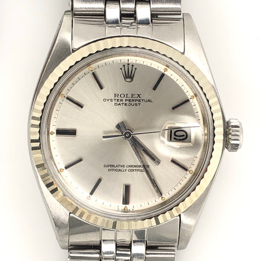 Rolex DateJust 36mm Silver Pie-Pan Dial Stainless Steel Jubilee Band
