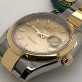 Rolex Datejust 36mm 18kt Yellow Gold & Steel Oyster Band