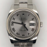 Rolex Datejust 36mm Silver Roman Dial Oyster Steel Band
