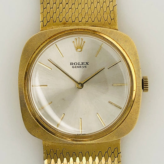 Rolex Vintage Mesh Band M. 605 1964 14kt Yellow Gold