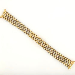 18kt Yellow Gold AF Rolex Ladies Diamond Band for 26mm