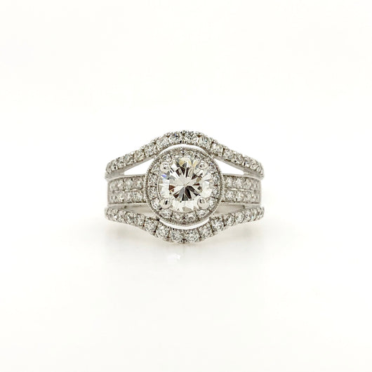 18Kt White Gold .81ct Diamond Engagement Ring