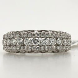 14kt White Gold Wedding Band 1.01ct