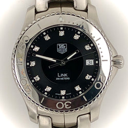 Tag Heuer Link WJ1113-0 Black Diamond Dial Men's Watch