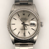 Rolex Datejust 36mm White Dial Steel Oyster Band