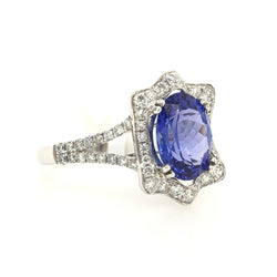 14kt White Gold Tanzanite & Diamond Ring 2.5ct