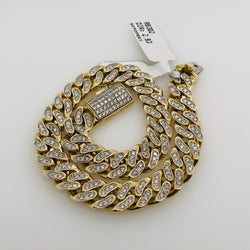 10kt Yellow Gold Miami Diamond Cuban Link RB302 2.93ct