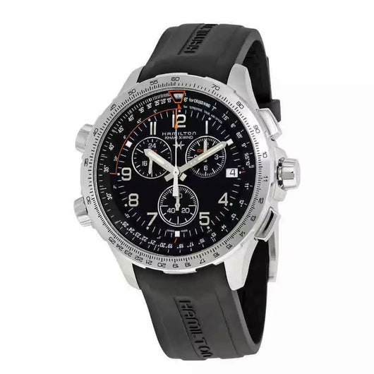 Hamilton X-Wind GMT Chronograph Black Dial Men's Watch H77912335