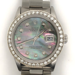 Rolex Datejust 36mm Mother of Pearl Dial Diamond Bezel Oyster Steel Band