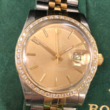 Rolex Vintage London Sky Champagne Dial with Diamond Bezel Jubilee Band
