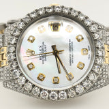 Rolex DateJust 8ct Mother of Pearl Dial Two Tone Jubilee Band