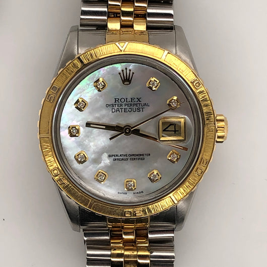 Rolex Vintage Datejust 36mm Custom MOP Diamond Dail Thunderbird Bezel Jubilee Band