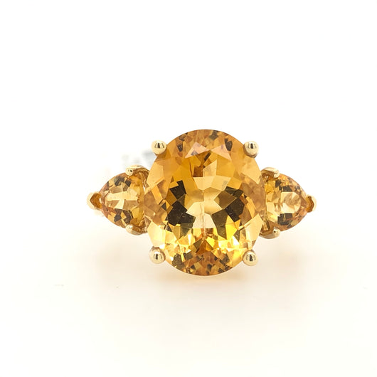 14kt Yellow Gold Citrine Women's Ring
