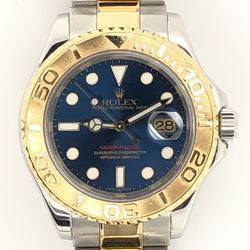 Rolex Yachtmaster 40mm Blue Dial Two Tone Oyster Band