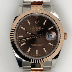 Rolex Datejust II 41mm 18kt Rose Gold Chocolate Dial Oyster Band