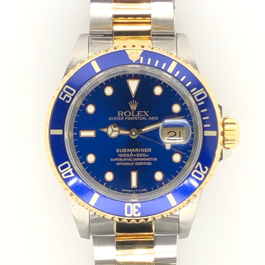 Rolex Blue Submariner Two Tone Oyster Band