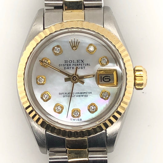 Rolex Vintage Datejust Lady 26mm Diamond Mother of Pearl 6916