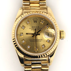 Rolex 18kt Gold 26mm Datejust President Band Diamond Dial