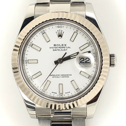 Rolex DateJust II 41mm White Dial Stainless Steel Oyster Band