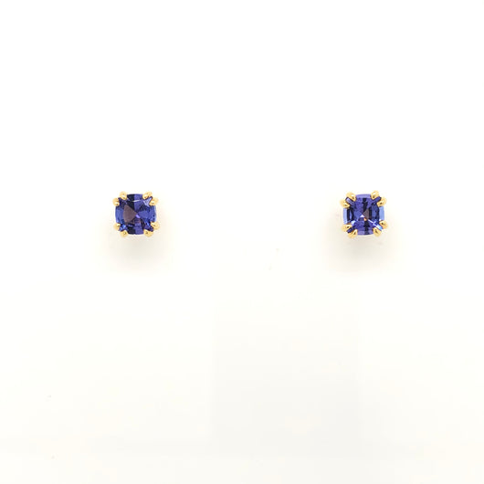 14kt Yellow Gold Tanzanite Stud Earrings