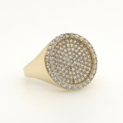 10kt Yellow Gold Iced Round Ring