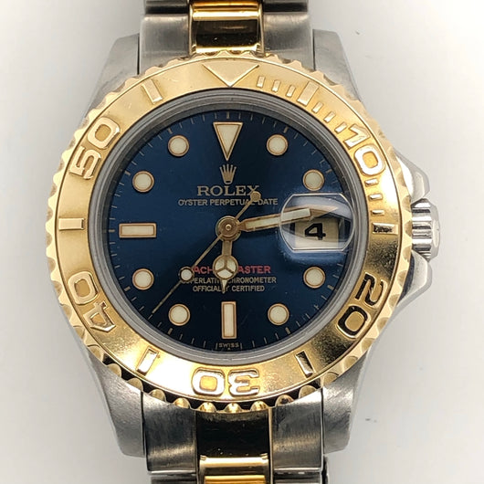 Rolex Yachtmaster 29mm Lady  Blue Dial 18kt & Steel Oyster Band 69623