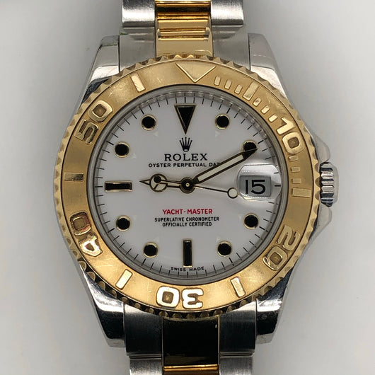 Rolex Yachtmaster Midsize 35mm Yellow Gold & Steel Oyster Band 168623