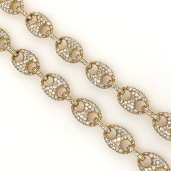 Diamond Puffed Gucci Link 24 Inches 10mm 69.90 Grams RN222 19.34ct
