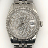 Rolex Vintage Datejust 36mm Jubilee Diamond Jubilee Steel Band
