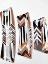 Missoni Set of 3 Chevron Pattern Brown White Serving Trays Retired Limited Edition