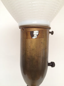 Frederick Cooper Silver and Gold Leaf Tall Stacked Ball Table Lamp