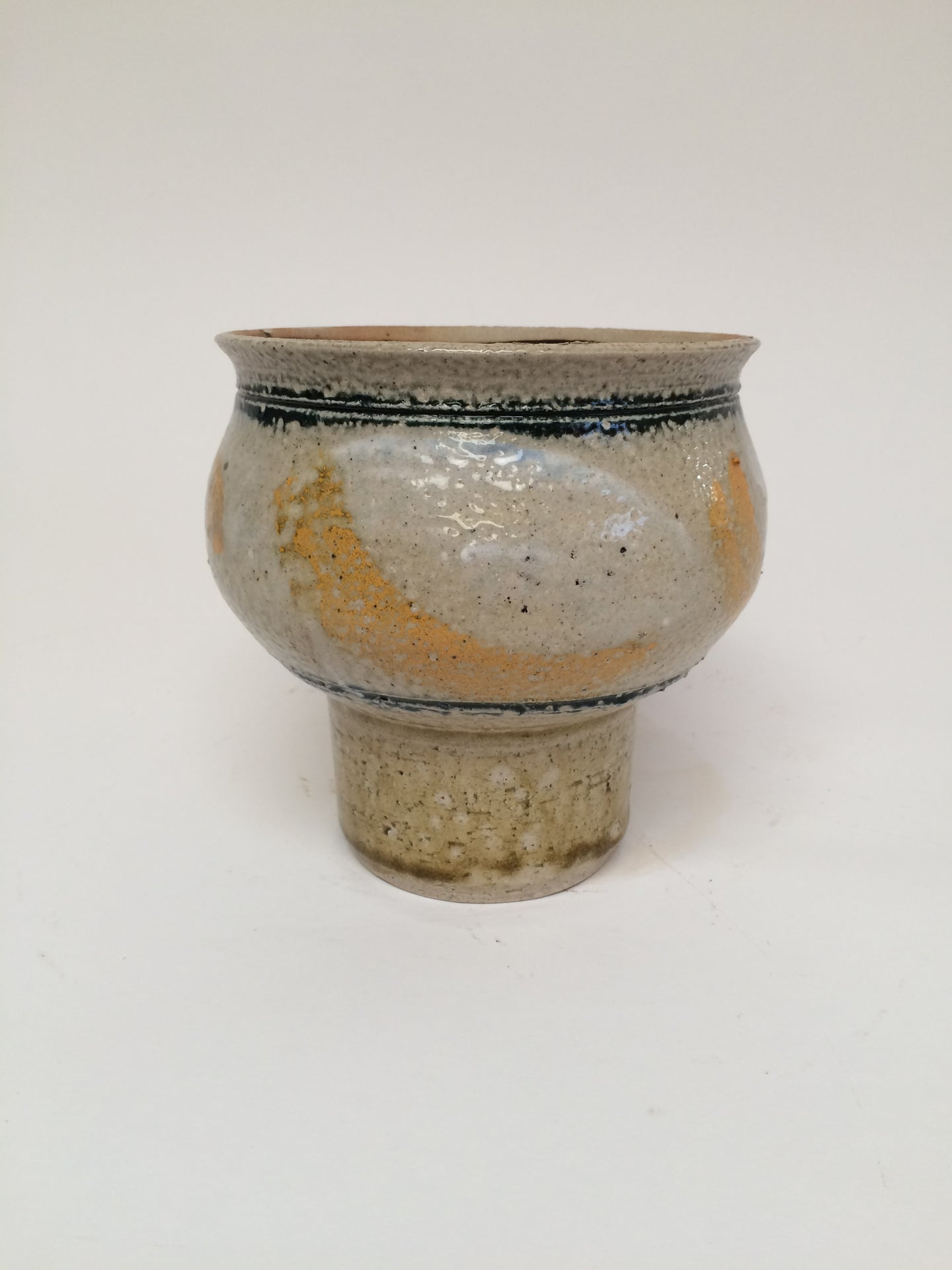 Footed Pottery Cache Pot