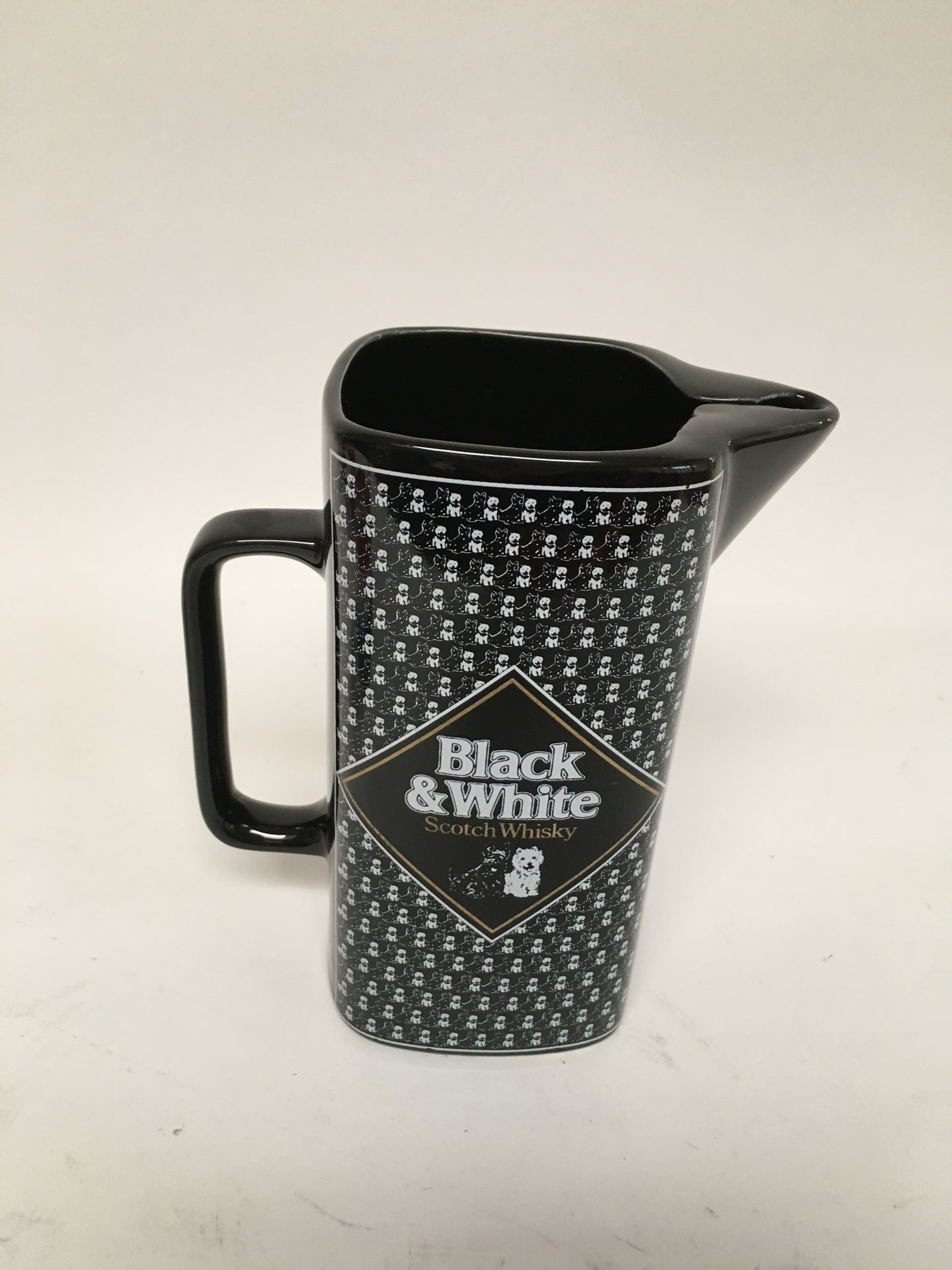 Vintage Black and White Scotch Whisky Pitcher