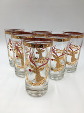 RARE Culver Signed Rudolph the Red-Nose Reindeer Highball Glasses Set of Six