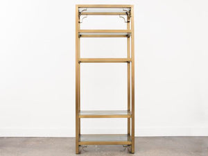 Mastercraft Brass and Glass Etagere