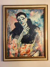 Mid Century Modern Oil Painting of Mime