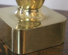 Pair of Tony Paul for Westwood Brass Brutalist Lamps