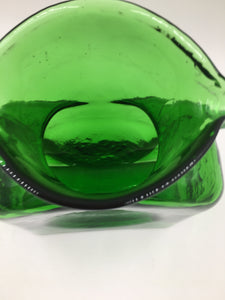Vintage Blenko Green Water Bottle