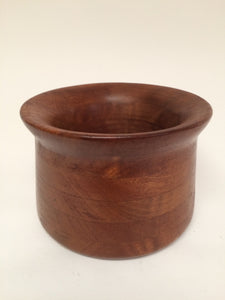 Mid Century Wooden Bowl with Flared Rim