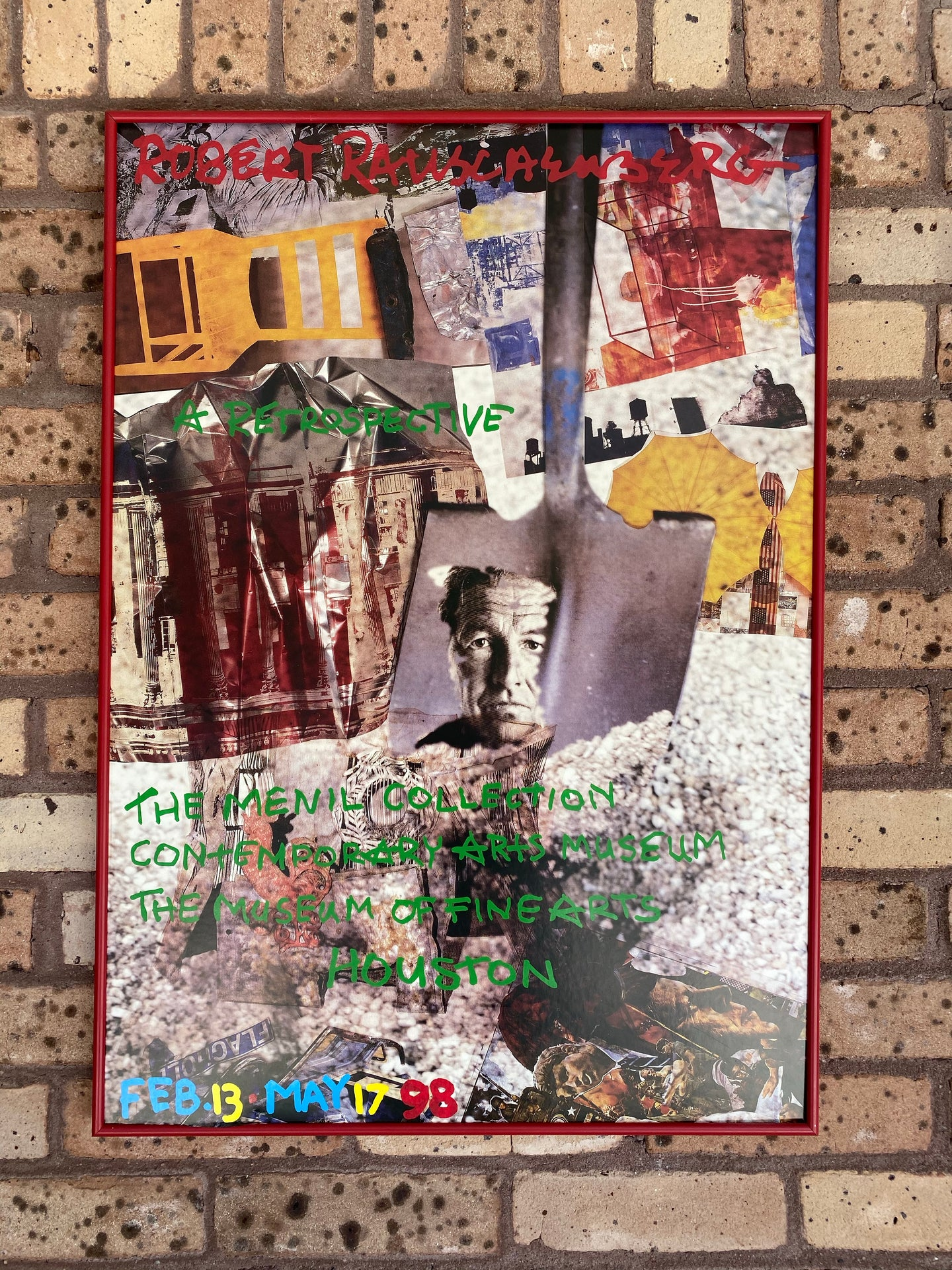 Robert Rauschenberg Framed Pop Art