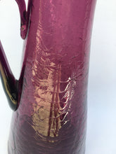 Mid Century Blenko Model 976 Pitcher in Amethyst Crackle