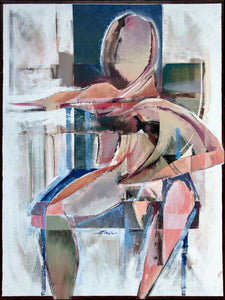 Seated Woman Acrylic on Canvas by Stanley T. Harris